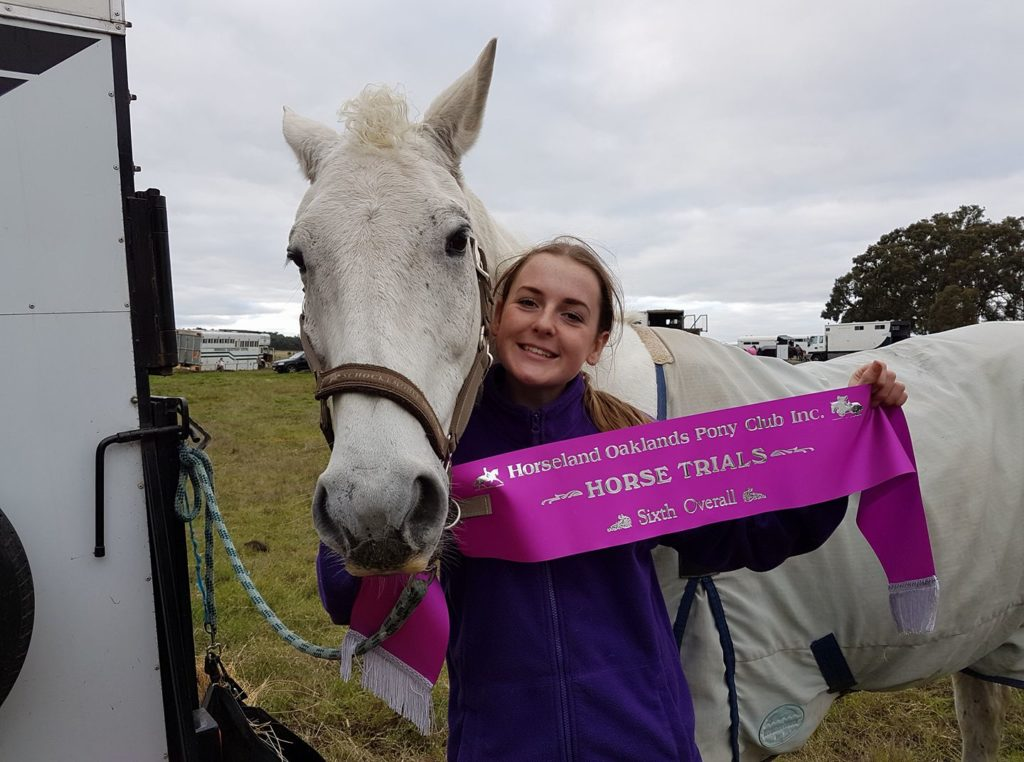 Allison with her horse Baron